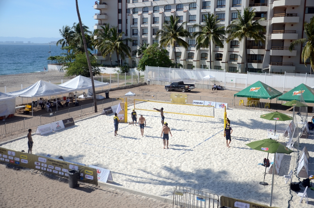 Brazil getting some practice in down in Puerto Vallarta.  Photo: FIVB