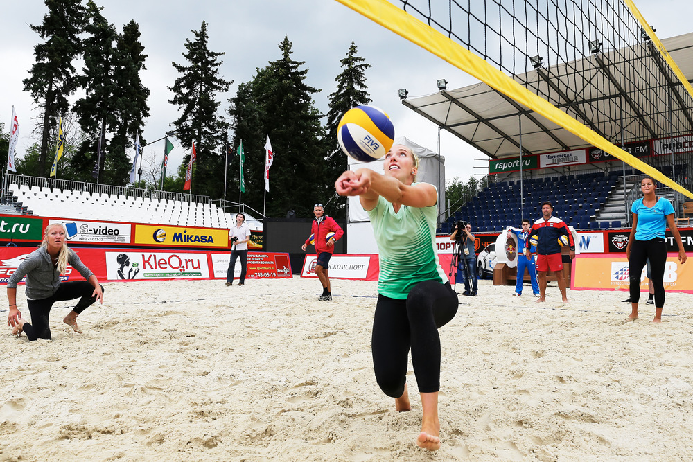Russia gets some practice in before the tournament starts in Moscow.  Photo: FIVB
