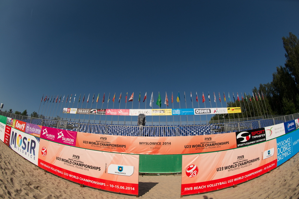The venue for the 2014 FIVB U23 Beach Volleyball World Championships.  Photo: FIVB