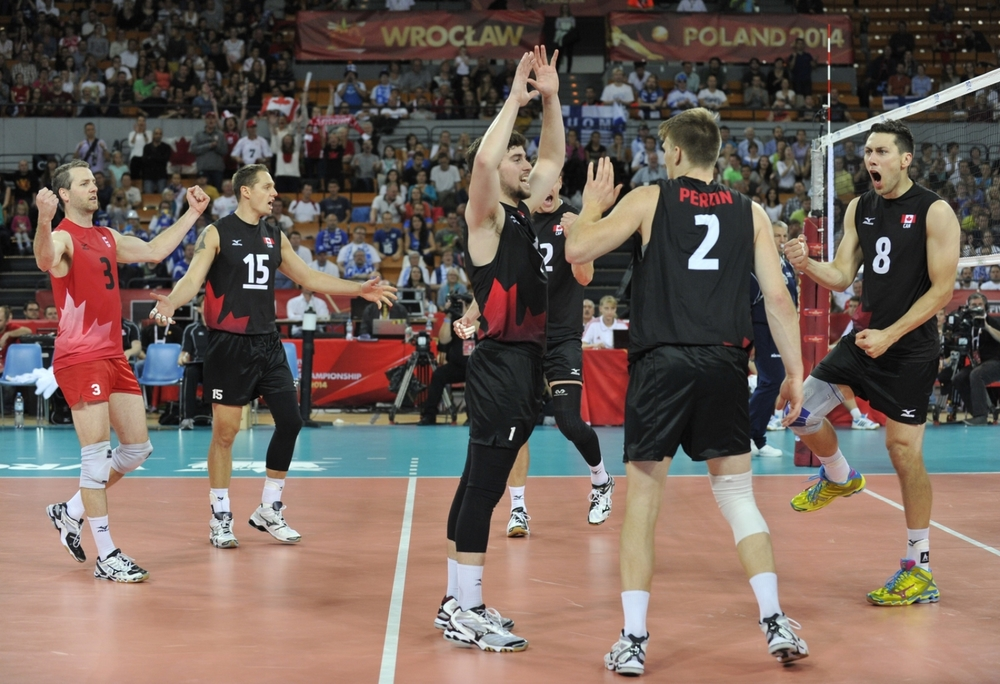 Canada increased their winning streak to six games with a 3-0 win over Finland today. Gavin Schmitt led all scorers with 21 points in the match. The team has the day off tomorrow and take on No. 1 Brazil on Saturday.  Photo: FIVB