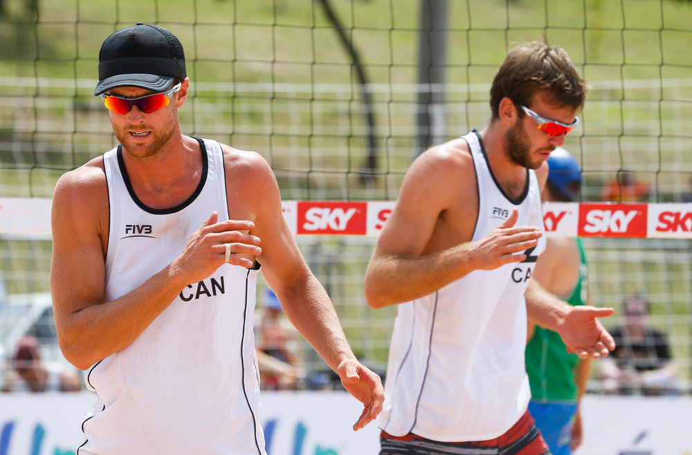 Chaim Schalk and Ben Saxton opened the Sao Paolo Grand Slam with a 2-1 win over Italy. They face Poland and Brazil tomorrow. The FIVB caught up with the pair after the win to talk about their season.  Photo: FIVB