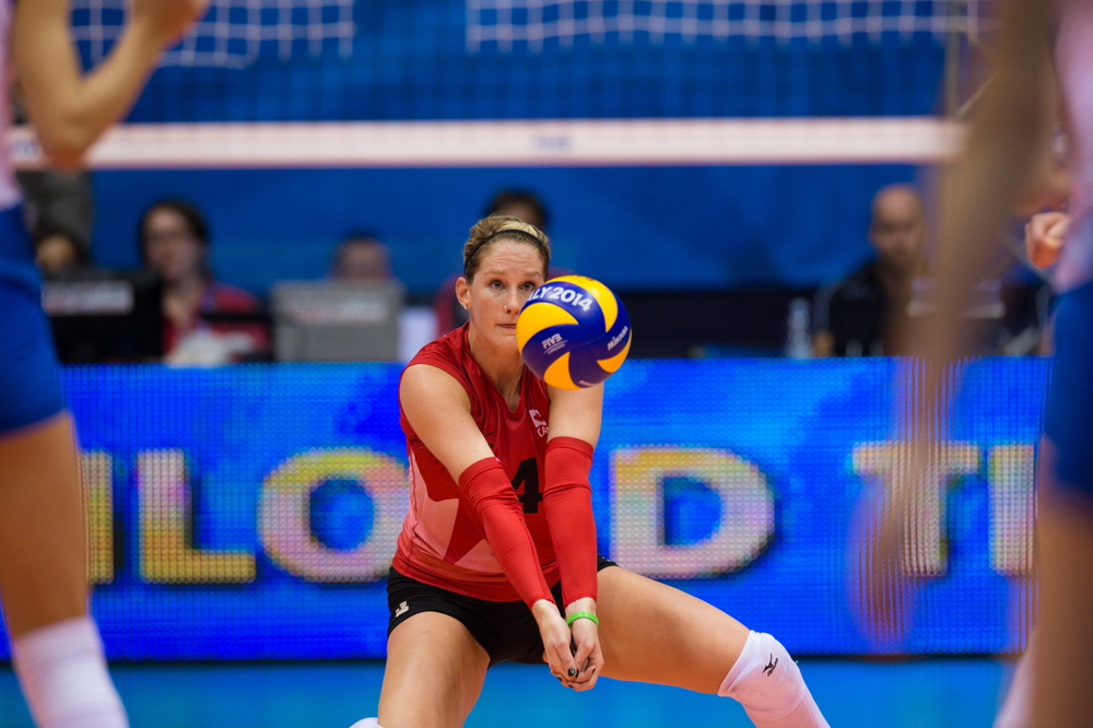 Kyla Richey is in action today with her German club Rote Raben at 1:00 p.m. EST (Photo: FIVB)