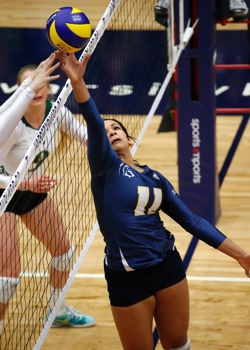 Vanessa Cornwall led the Spartans with 53 assists and 20 digs and was named Championship MVP  Photo: Trinity Western