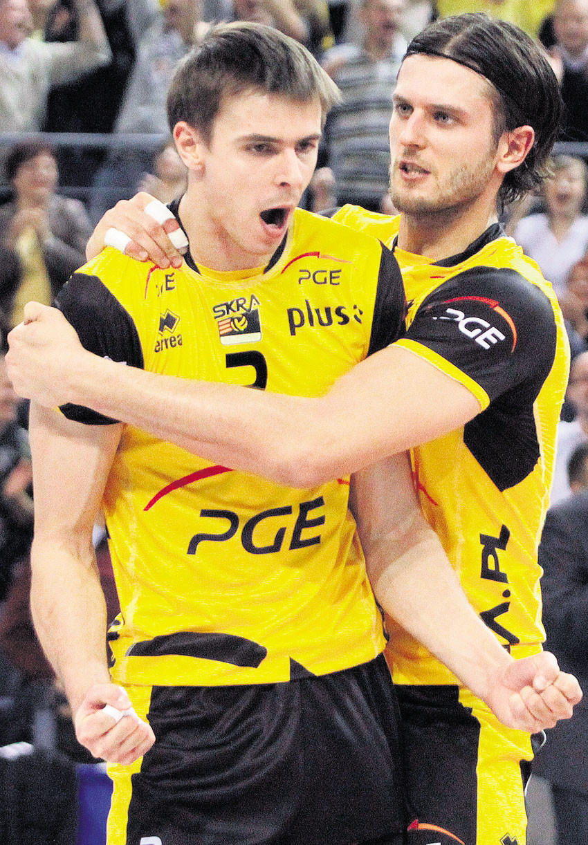 Wlazly (left) and Winiarski (right) led Poland to a World Championships in the fall, can they lead Belchatow to it's first Champions League trophy? Photo: PGE Skra Belchatow