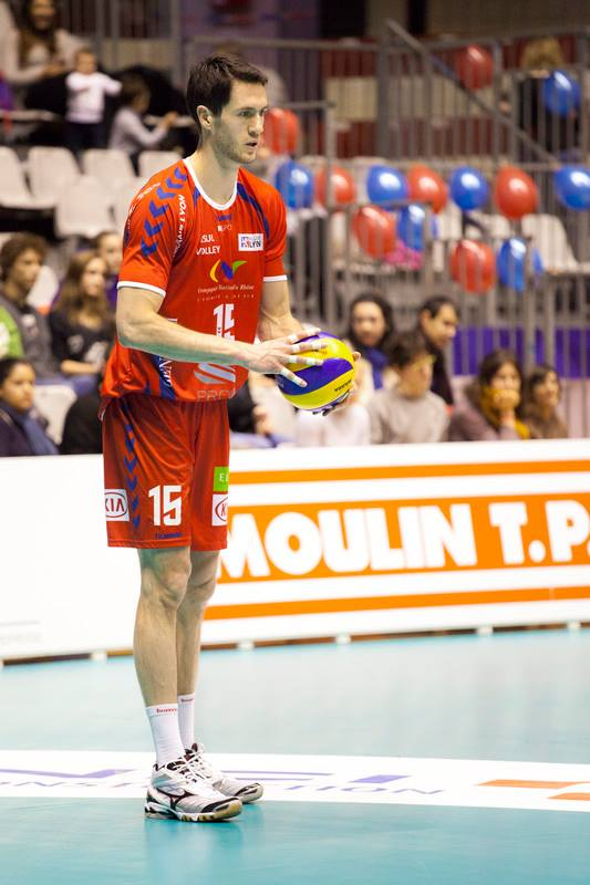 Toon van Lankvelt was huge for Lyon this year, finishing second in points with 359 (285 kills, 55 blocks, 18 aces) points this season.  Photo: ASUL Lyon