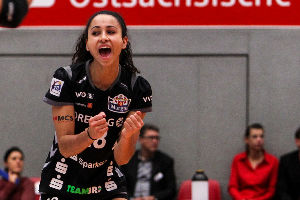 Shanice Marcelle came off the bench for 17 points to lead Dresdner SC to their second-straight Bundesliga title Photo: Bundesliga