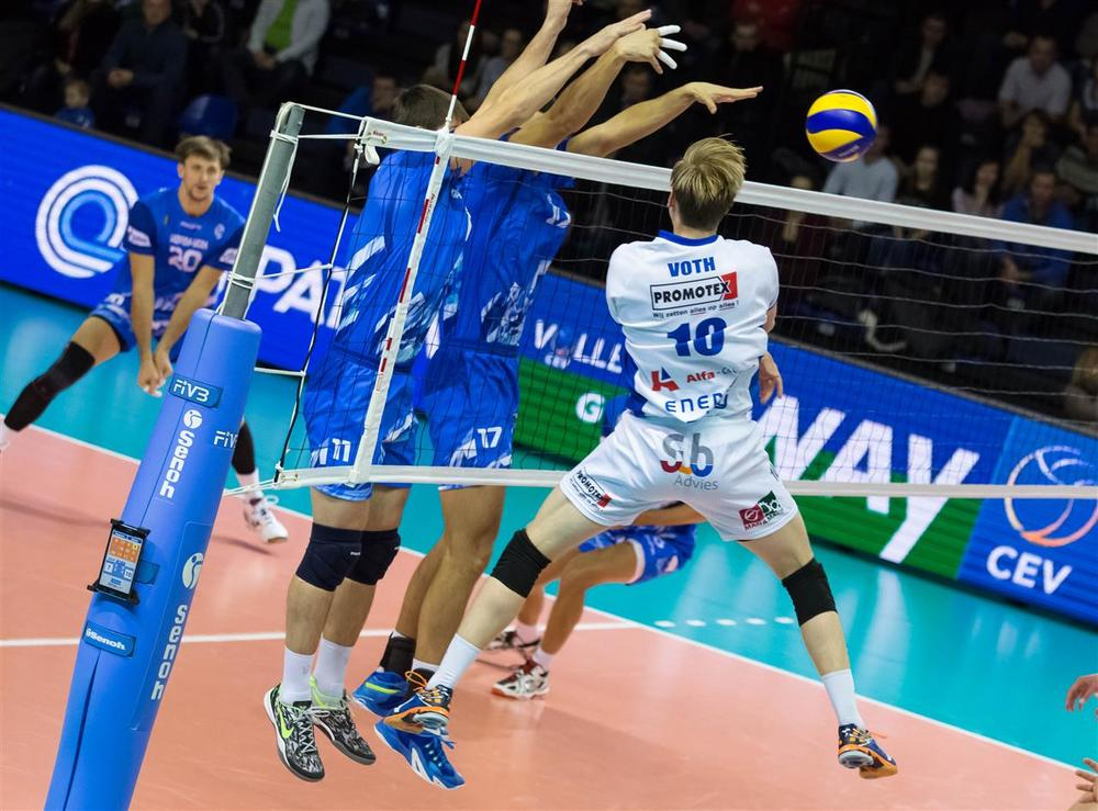 Chris Voth scored 12 points for Lycurgus of The Netherlands in their 3-0 loss to Surgut in the CEV Cup.  Photo: CEV Cup