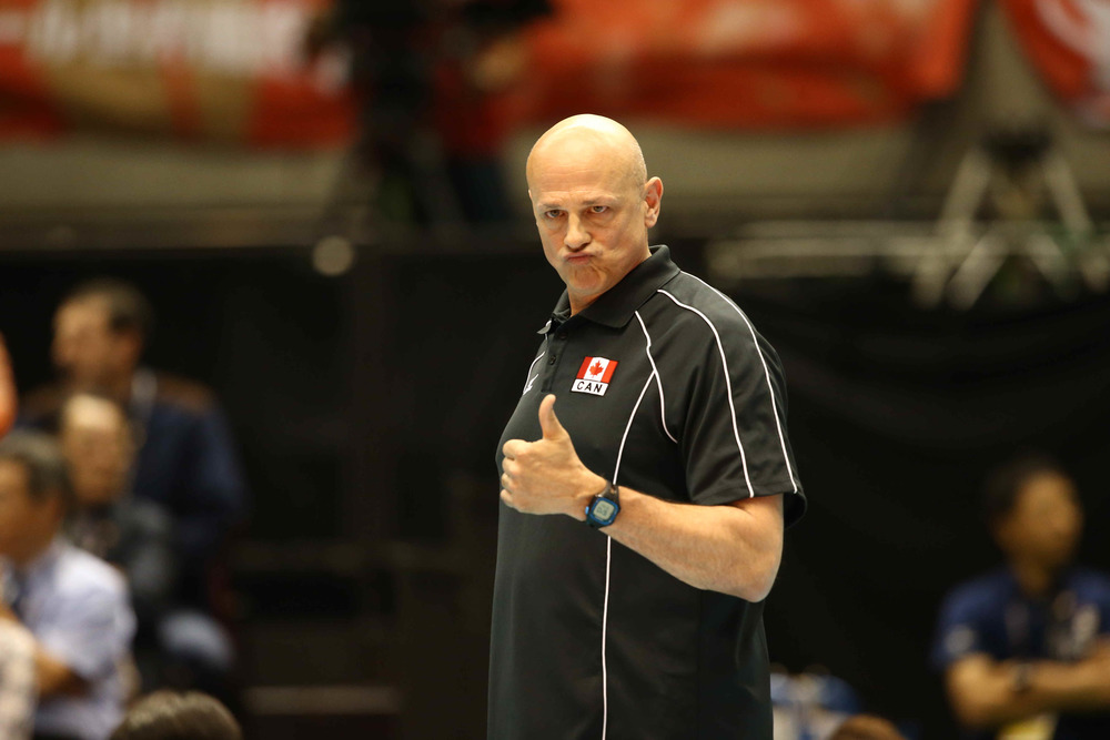 This photo of Head Coach Glenn Hoag is just too good not to post. Photo: FIVB