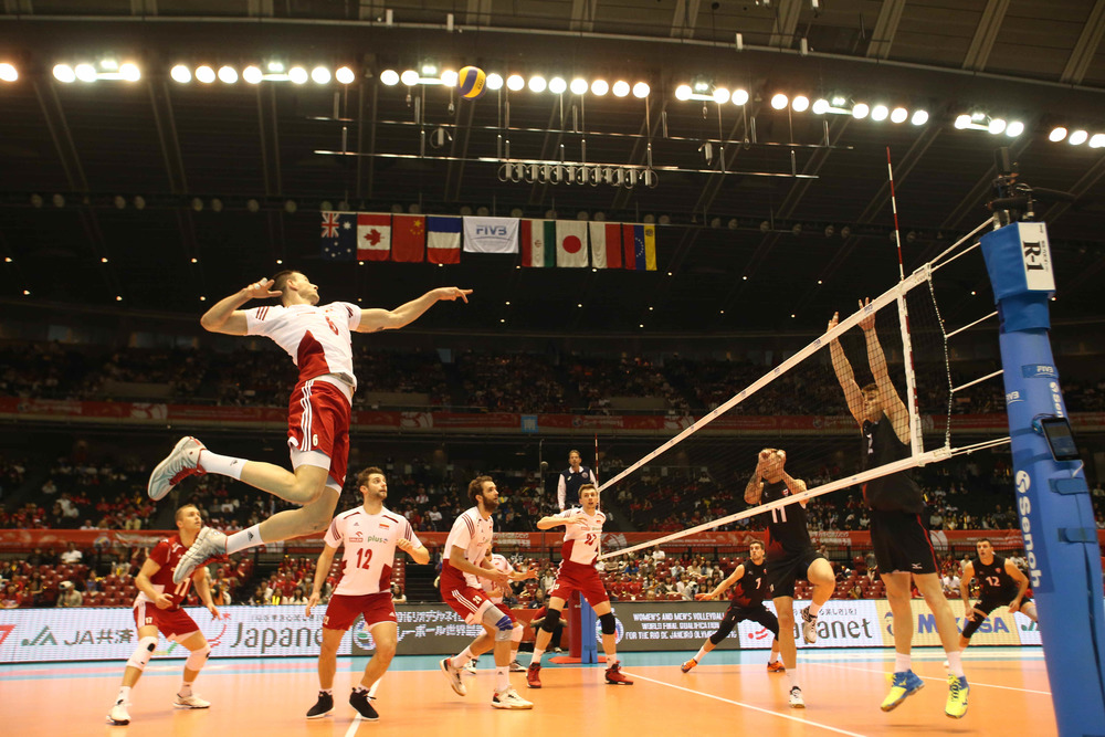Kurek goes up for a swing.  Photo: FIVB