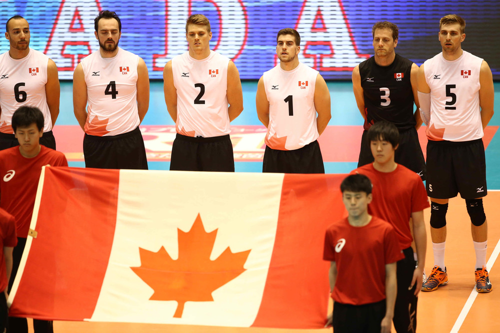 "The Maple Volleys will sing ""Oh Canada!"" once against at 9:00 p.m. ET  Photo: FIVB"