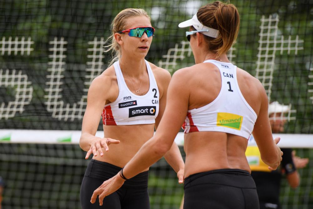 Kristina Valjas & Jaimie Broder. Photo: FIVB