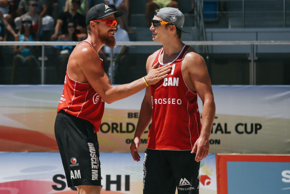 Sam Pedlow & Grant O'Gorman in Sochi. Photo: FIVB