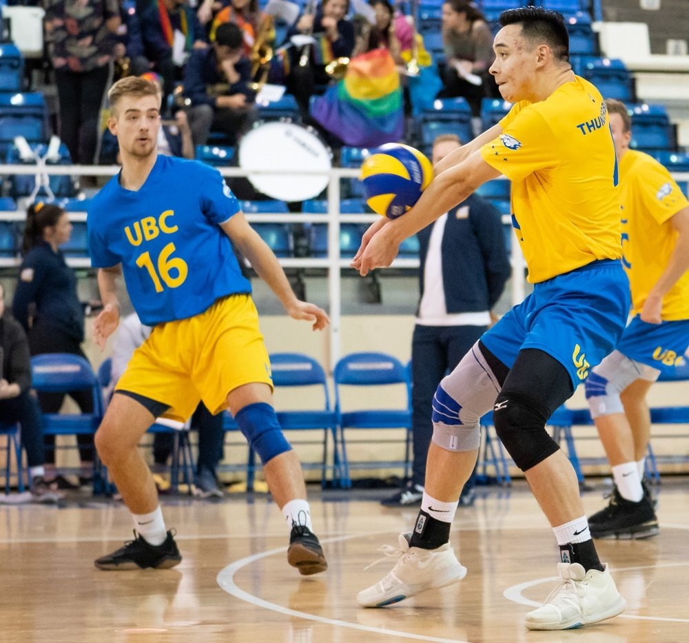 UBC's Colten Liu (passing) has been filling some big shoes for the Thunderbirds . Photo: UBC Thunderbirds