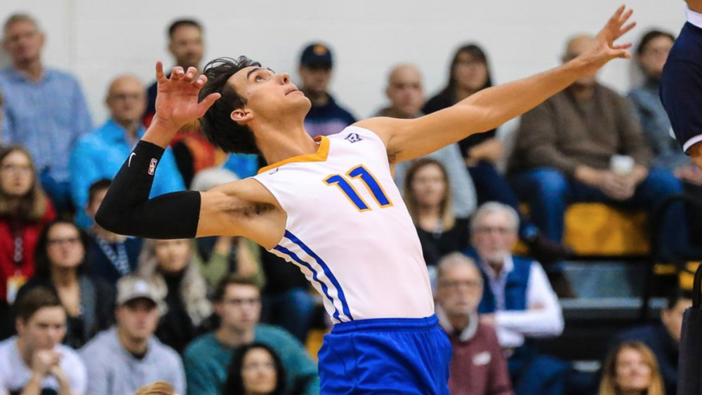Ryerson Rams rookie Xander Ketrzynski leads the OUA with 229 kills and 4.87 kills/set . Photo: The Eye Opener
