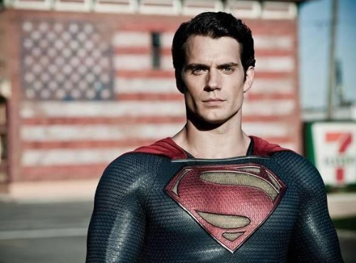Superman,  after making a pit stop at the Smallville 7 Eleven