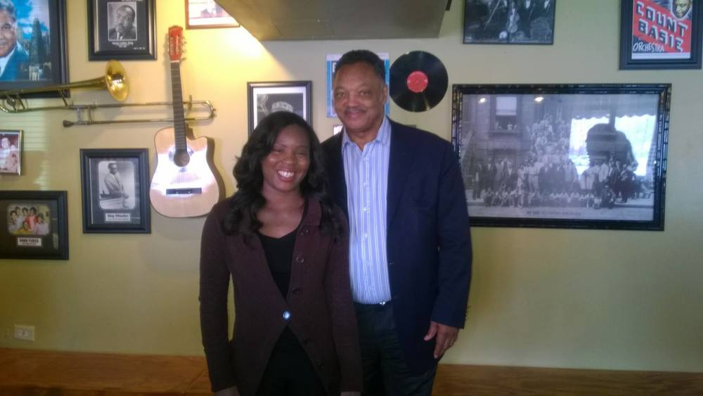 Rev Jackson and Hostess Brittany