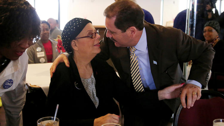 Chuy Garcia And Karen Lewis