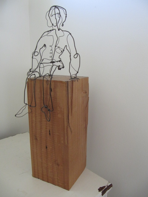 Seated wire woman 1