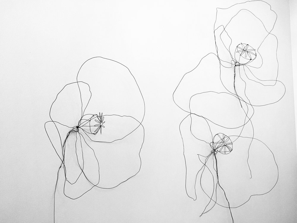 Large Wire Poppies