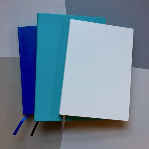 These notebooks are all blank, calm, and satisfying .