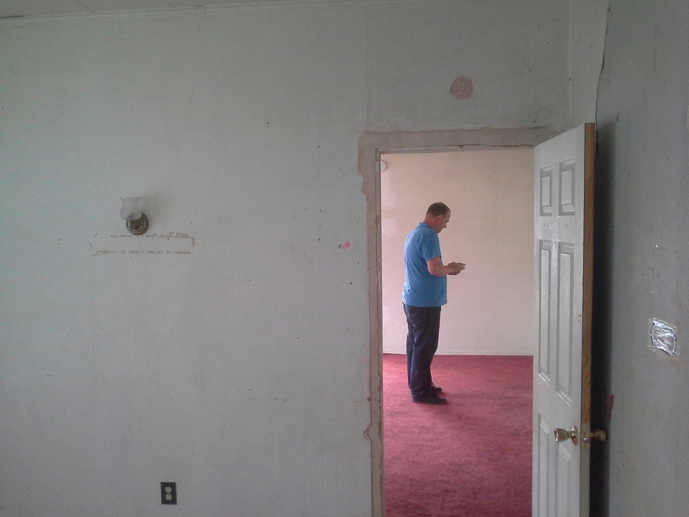 View into spare bedroom.