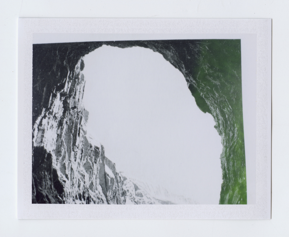 kept (safe, hidden and away)  Polaroid of found National Geographic, 2015   Statement + Info