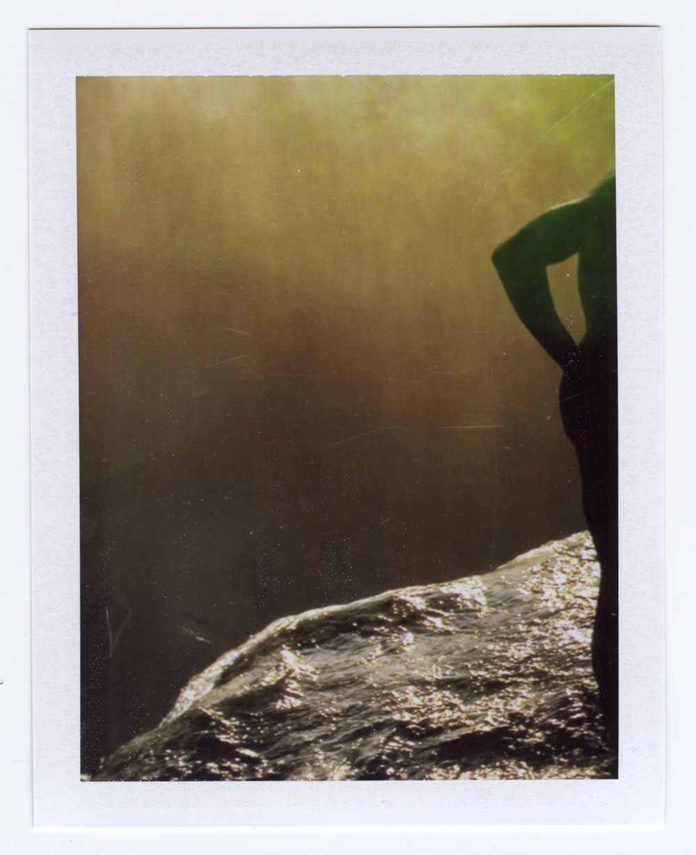 still in the flood waters  Polaroid of found National Geographic, 2015   Statement + Info