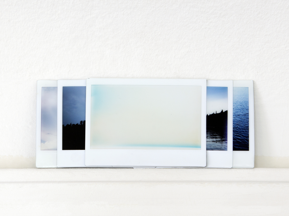 what it feels like to see  / resin, five fuji-instax photographs