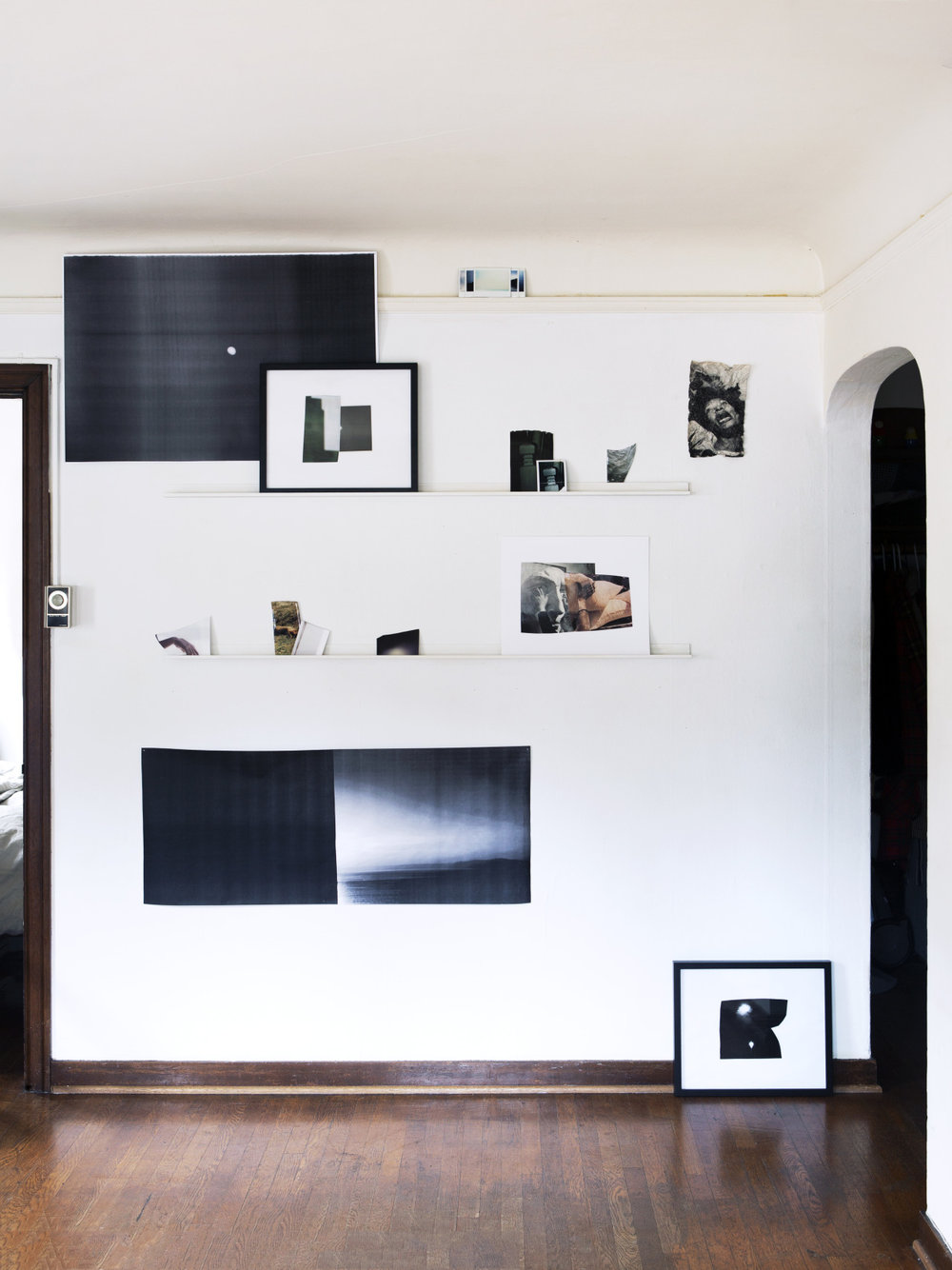 Statement and show info here.    reduced to fragments  (installation view), two shelves, Seattle, WA, 2015