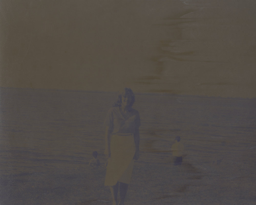 "Before (mother)  photographic print of Fuji negative with Polaroid camera, 2017, 13x16"" edition of 3   Statement + Info"