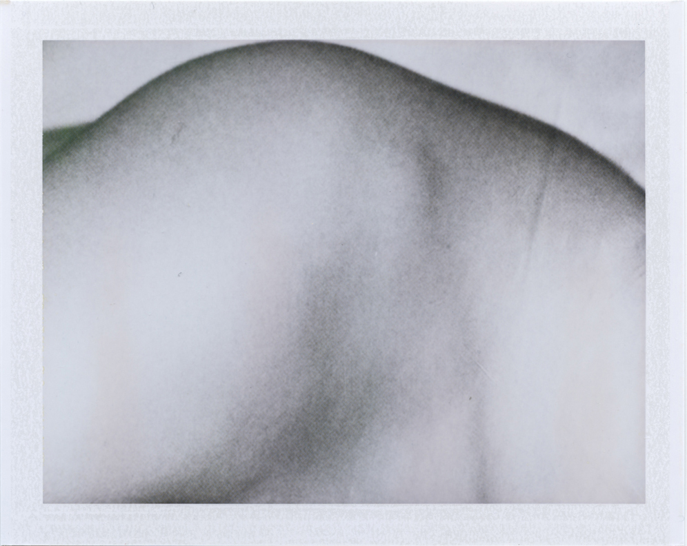 Shouldering the weight  Instant film photograph, 2013   Info + Statement