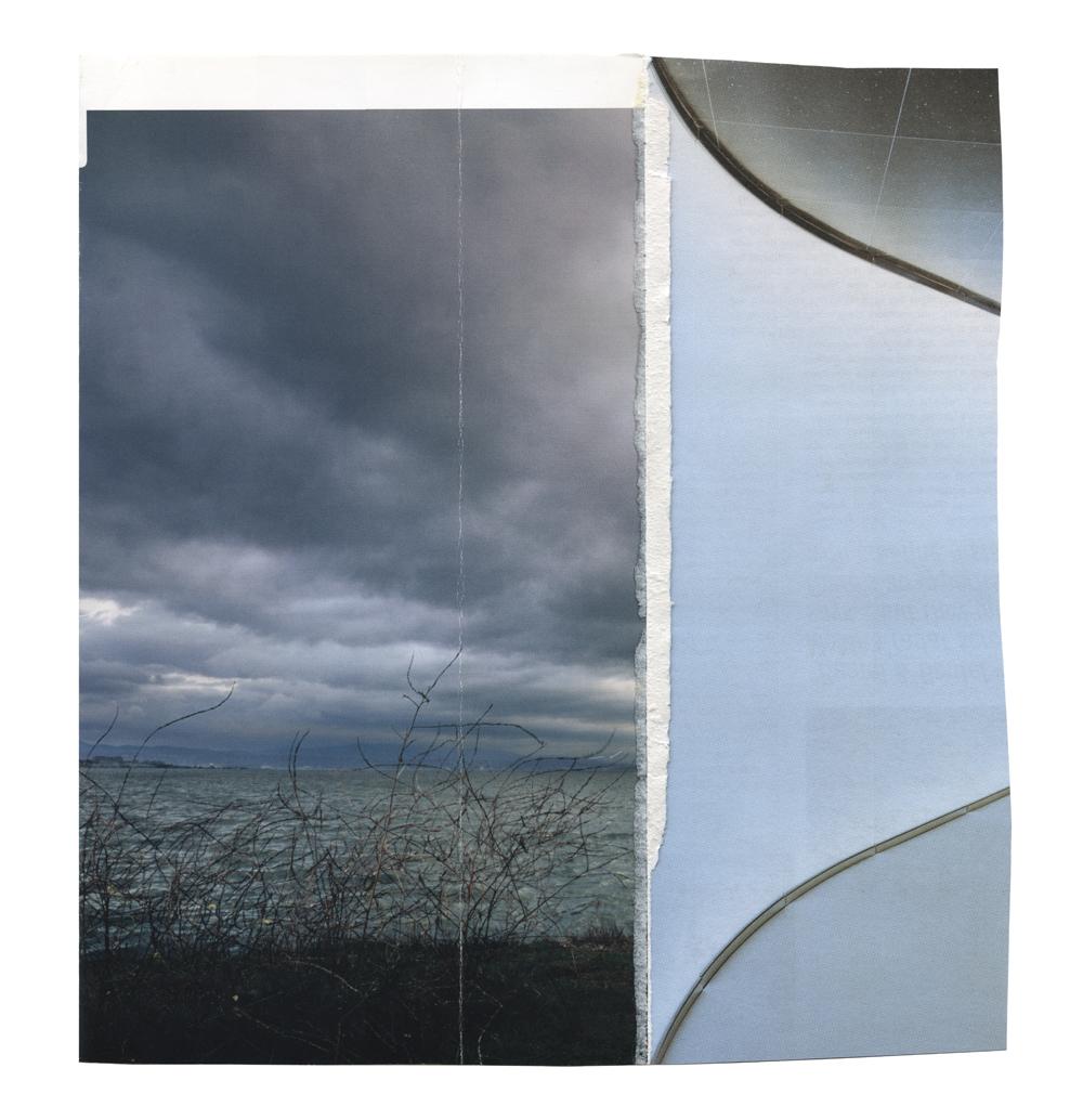 "Before  collage on vellum, 2014, 18x15""   Statement + Info"