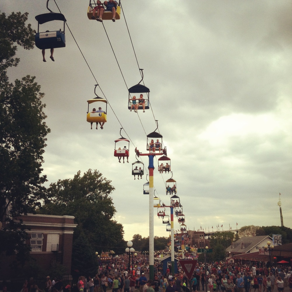 The Sky Glider at the Iowa State Fair from The LBeau Room
