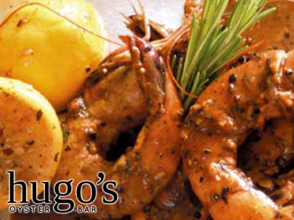 1/2 Price NOLA BBQ Shrimp & Char Grilled Oysters Hugo's Oyster Bar | Roswell
