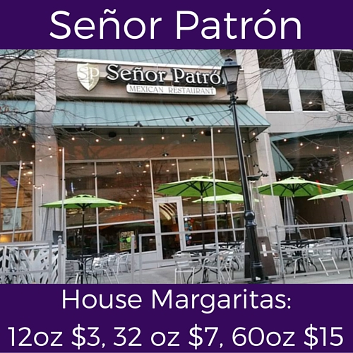 split monday specials at senor patron
