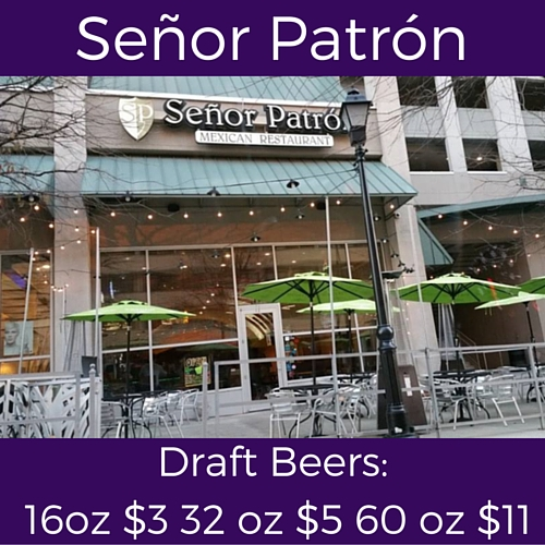 split tuesday specials at senor patron