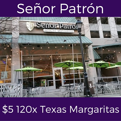 splits thursday specials at senor patron