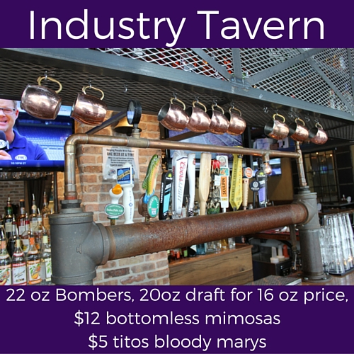 splits sunday specials at industry tavern
