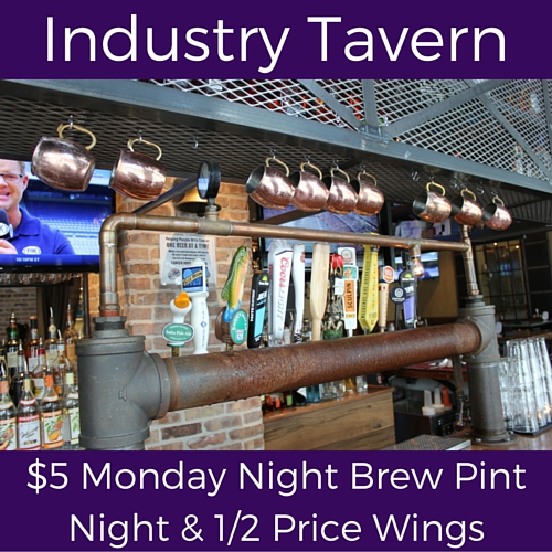 split monday specials at industry tavern
