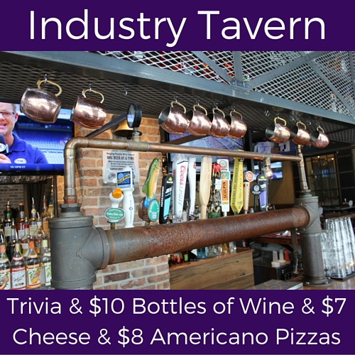 split wednesday specials at industry tavern