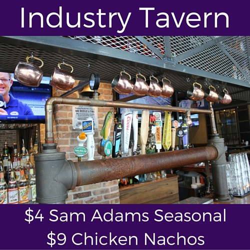 splits thursday specials at industry tavern