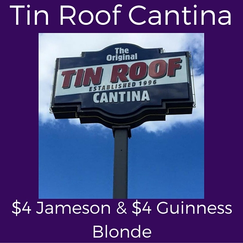 split monday specials at tin roof cantina