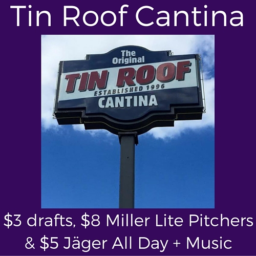 splits thursday specials at tin roof cantina