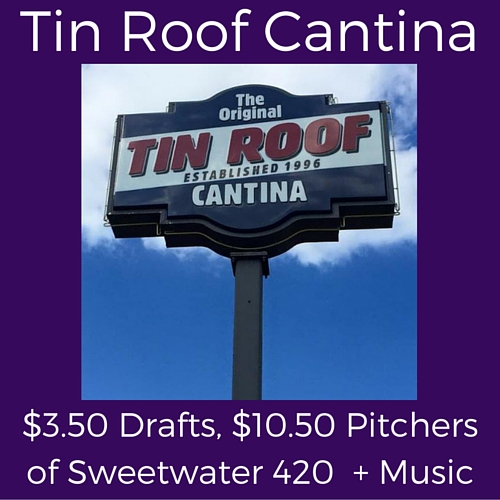 splits saturday specials at tin roof cantina