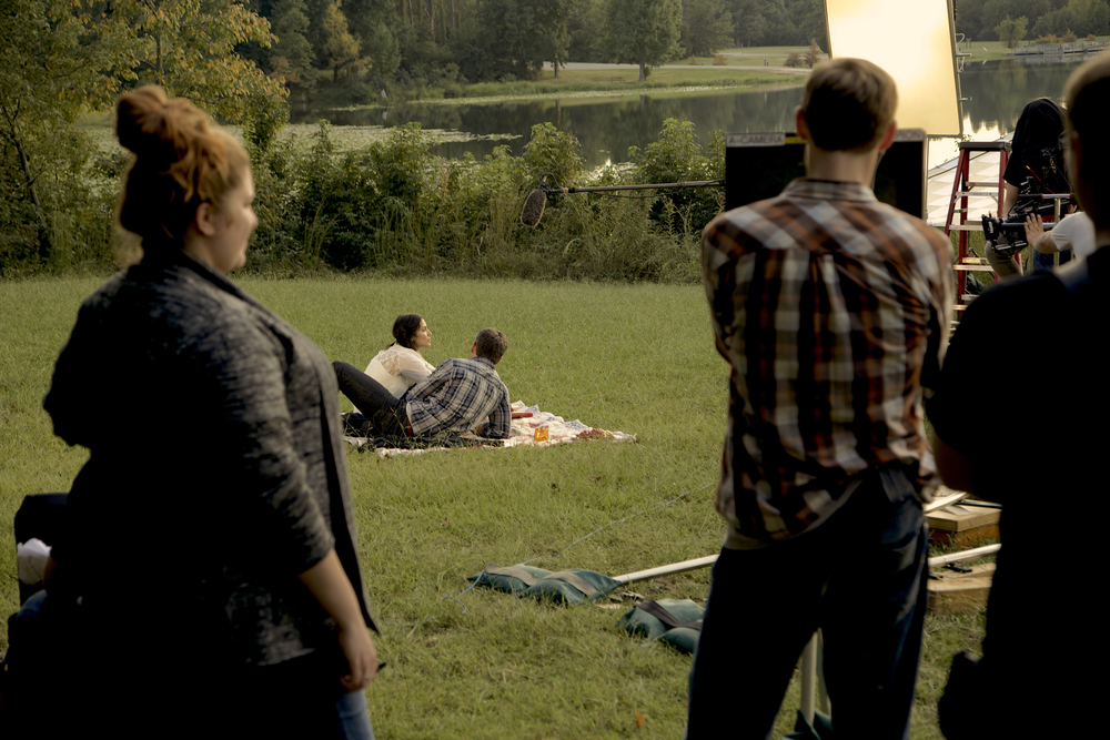 Our team shooting the picnic scene for  Out of Ashes