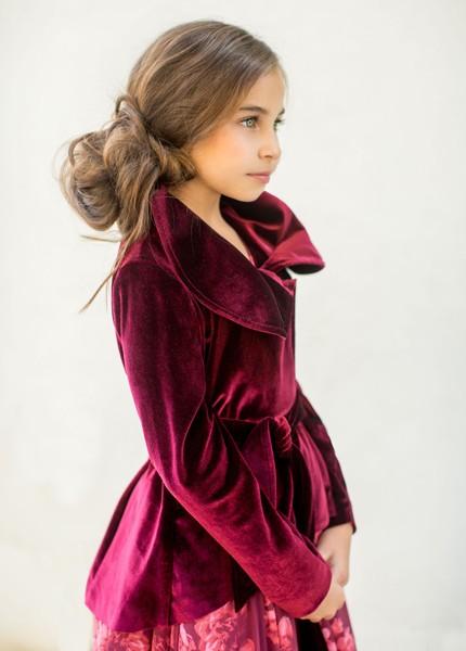 5fe12a8630f81 Joyfolie Victoria Jacket in Burgundy Size 4 — Shabby Addy
