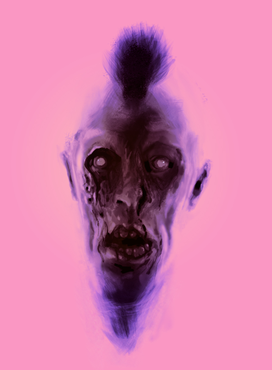 day06: saw a cool study of zombies over pink, decided to try