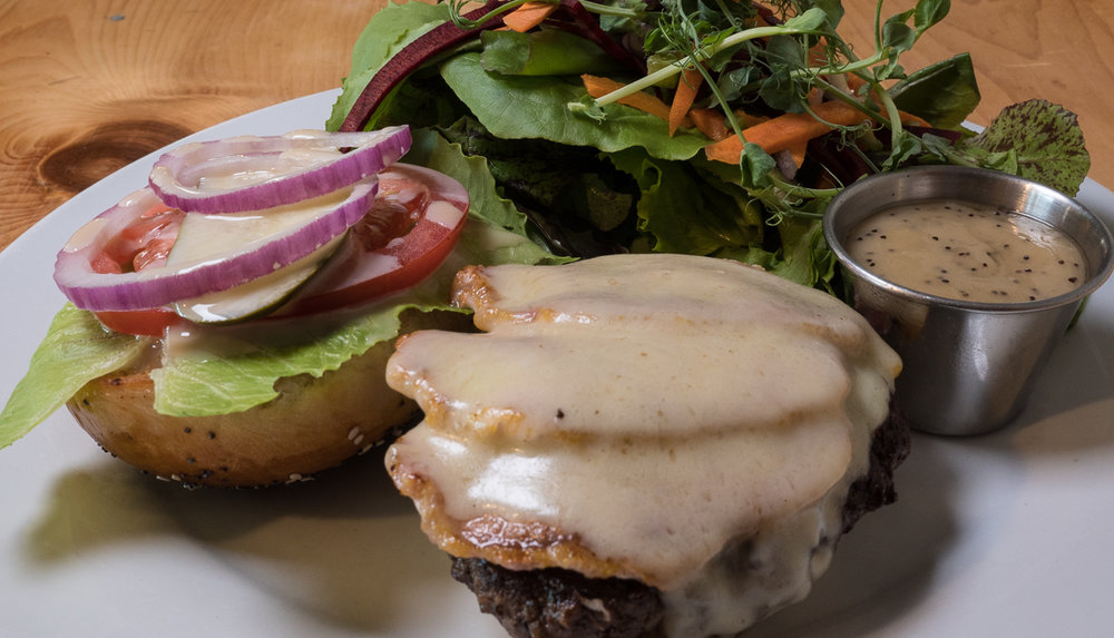 The Canadian Burger - love that peameal bacon and maple mayo!