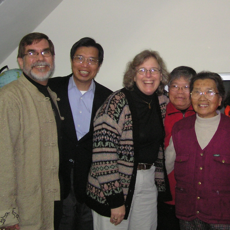 Missionaries Michael and Delores Kittelson in Taiwan with Hakka friends.