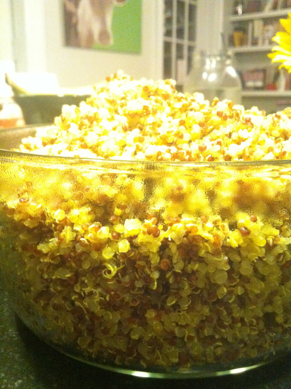 Big ol' batch of quinoa.